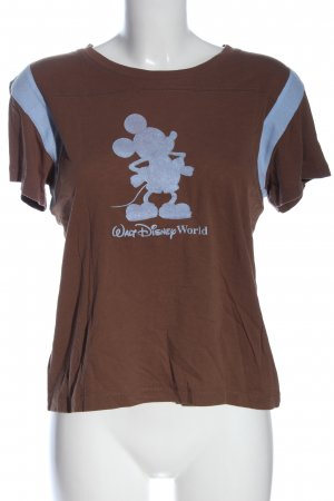 Disney T-Shirt braun-hellgrau Motivdruck Casual-Look