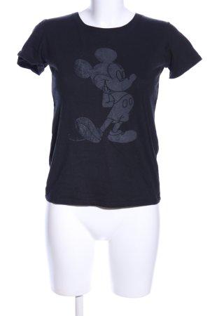 Disney T-Shirt schwarz Motivdruck Casual-Look