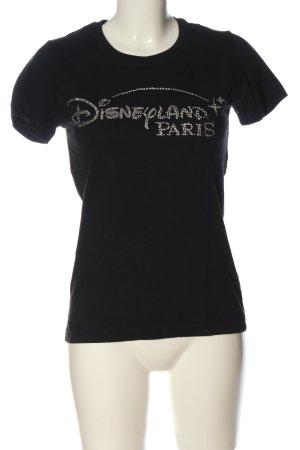 Disney T-Shirt schwarz-silberfarben Schriftzug gedruckt Casual-Look