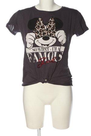 Disney T-shirt marrone Stampa a tema stile casual