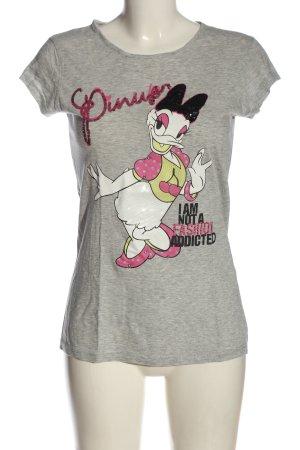 Disney T-shirt grigio chiaro puntinato stile casual
