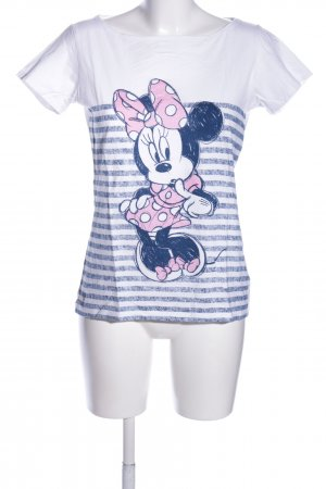 Disney T-Shirt weiß-blau Motivdruck Casual-Look