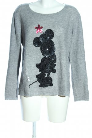 Disney Wollpullover hellgrau Motivdruck Casual-Look