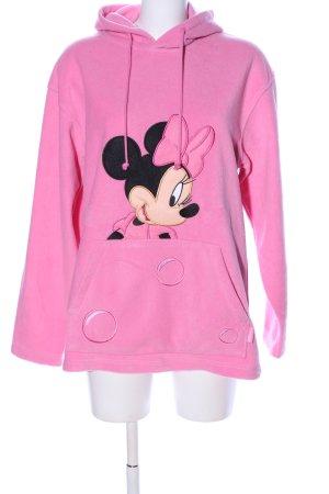 Disneyland Fleecepullover pink-schwarz Motivdruck Casual-Look