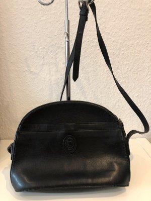 Disser Leder Umhängetasche Vintage schwarz