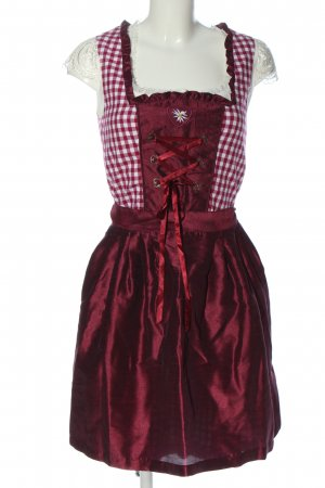Distler Dirndl rosso-bianco motivo a quadri elegante