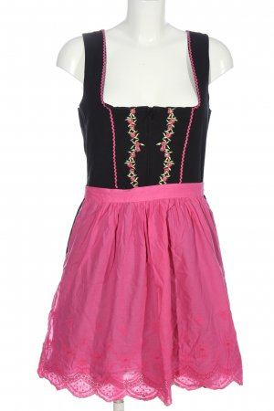 Distler Dirndl schwarz-pink Blumenmuster Elegant