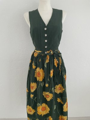 Distler Dirndl dark green-yellow