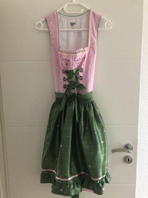 Distler Dirndl rosa-verde