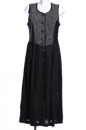 Distler Dirndl schwarz-hellgrau Webmuster Business-Look