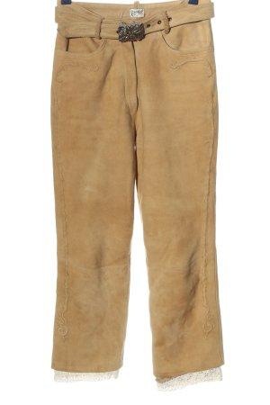 Distler Pantalone a vita alta arancione chiaro stile casual