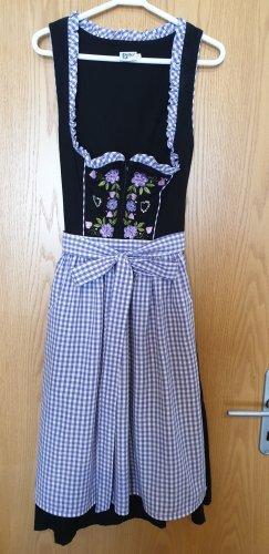 Distler Dirndl black-lilac