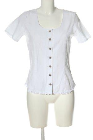 Distler Tradycyjna bluzka biały W stylu casual