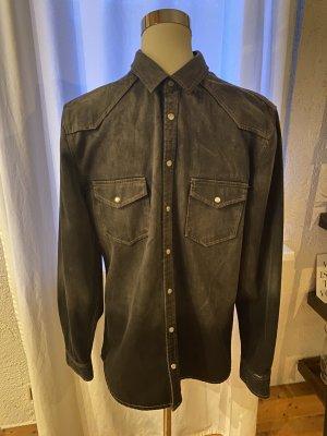 Distorted People Spijkershirt zwart