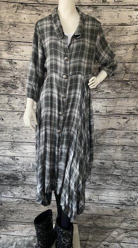 andere Marke Sukienka koszulowa szary-jasnozielony
