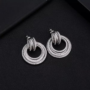 Pessina-Jewelry Gold Earring white-silver-colored