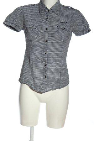 diverse Chemise à manches courtes noir-blanc imprimé allover