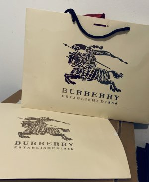 Burberry Sacchetto di tela multicolore