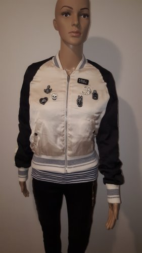 H&M Divided College Jacket cream-black polyester