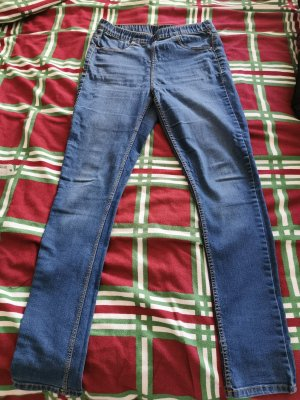 H&M Divided Stretch jeans staalblauw