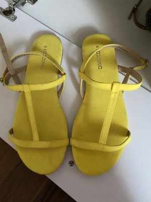 H&M Divided Strapped Sandals yellow