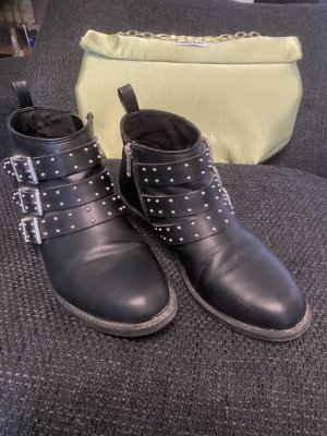 H&M Divided Booties black-silver-colored