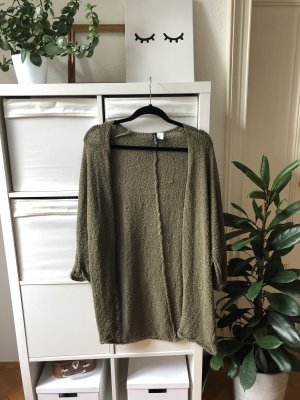 Divided Strickjacke lang olive khaki Gr. M