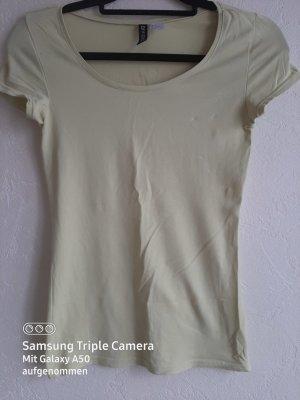 H&M Divided Sports Shirt primrose-pale yellow