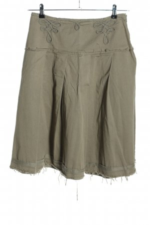 Divina Flared Skirt light grey casual look