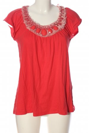 Divina Short Sleeved Blouse red casual look