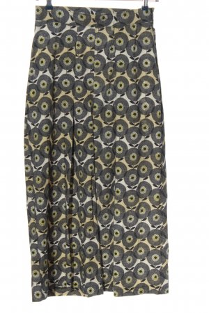 Dixie Baggy Pants black-cream allover print casual look