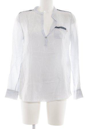Dixie Hemd-Bluse weiß-blau Streifenmuster Casual-Look
