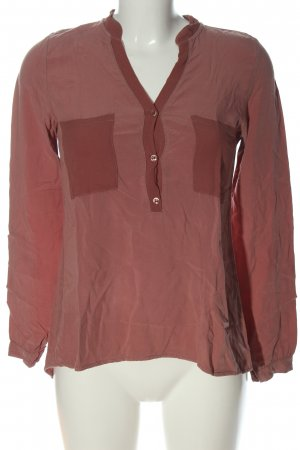 Dixie Hemd-Bluse rot-braun Business-Look