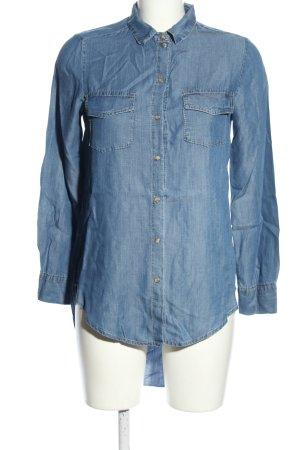 Dixie Long-Bluse blau Casual-Look