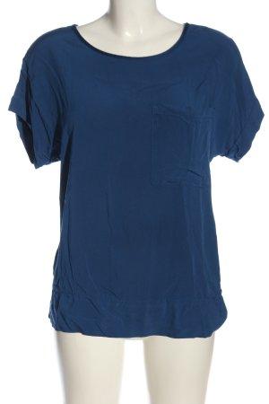 Dixie Kurzarm-Bluse blau Casual-Look