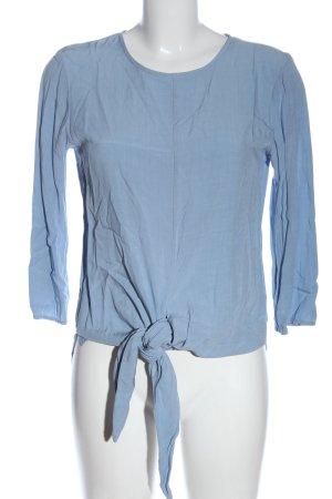 Dixie Langarm-Bluse blau Business-Look