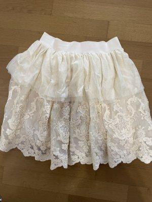 Dixie Falda de encaje blanco puro Poliéster