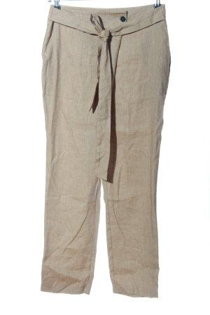 Dixie Pantalon en jersey blanc cassé Motif de tissage style décontracté