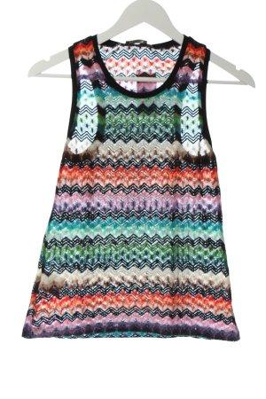 Dixie Top lavorato a maglia motivo a righe stile casual