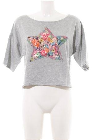 Dixie Sweatshirt hellgrau Motivdruck Casual-Look