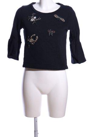 Dixie Sweatshirt schwarz Motivdruck Casual-Look