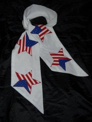 DIY American Flag Schal Tuch double face h m Stars Stripes weiß blau usa