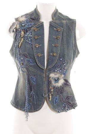 Denim Vest blue extravagant style