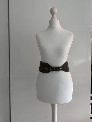 Donna Karan Cinturón pélvico marrón grisáceo