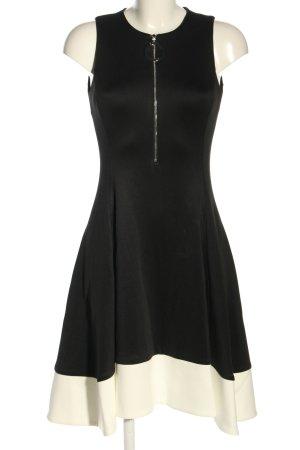 DKNY A-Linien Kleid schwarz-wollweiß Elegant