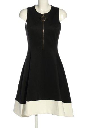 DKNY A-Linien Kleid schwarz-weiß Elegant