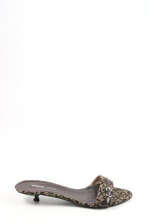 DKNY Sandalias con tacón negro-color oro letras impresas look casual