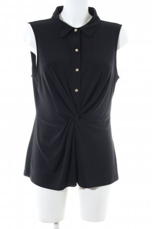 DKNY ärmellose Bluse schwarz Business-Look