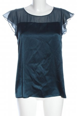 DKNY Glanzbluse blau Business-Look