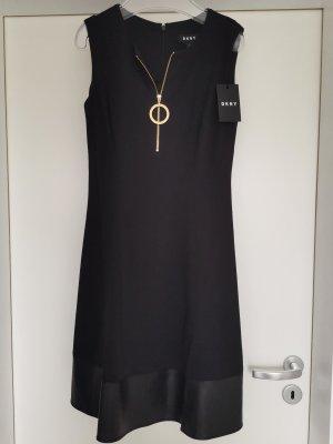 DKNY ärmelloses A-Linien Kleid mit  Saum und goldenen Ring Zipper mit Logodruck Gr. D 32
